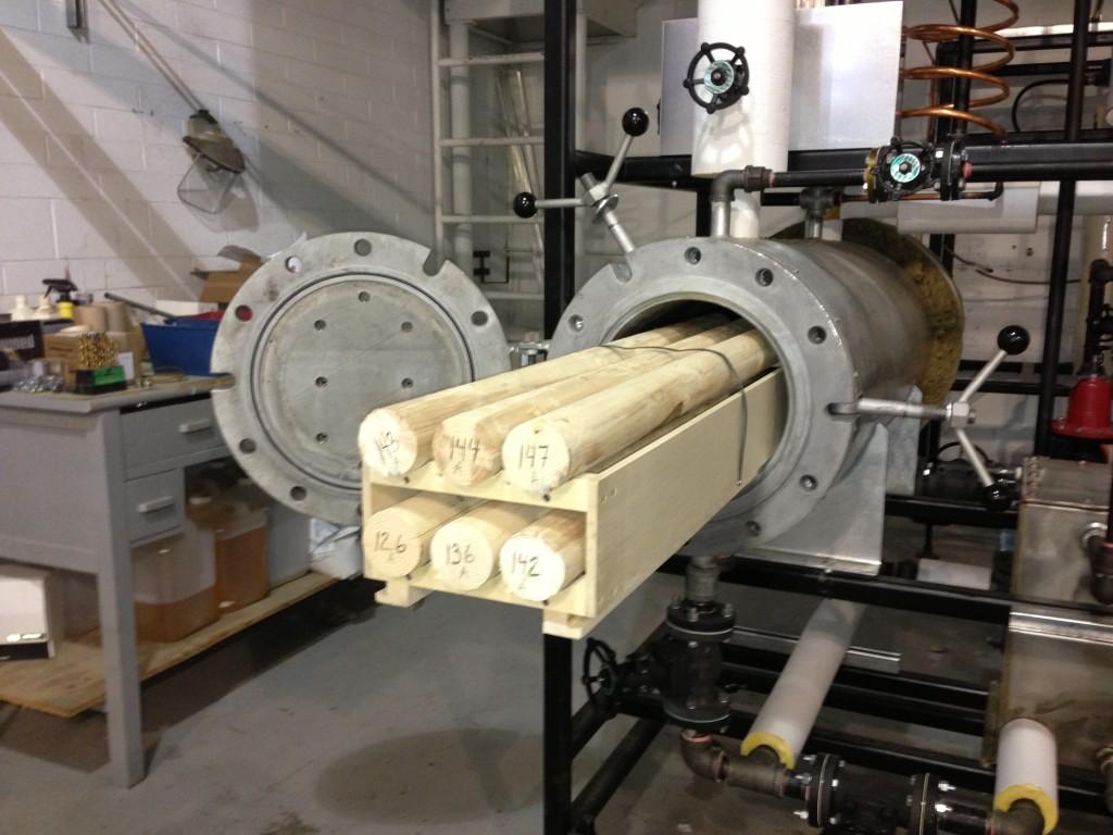 Plant oil-based pilot scale thermal treatment unit
