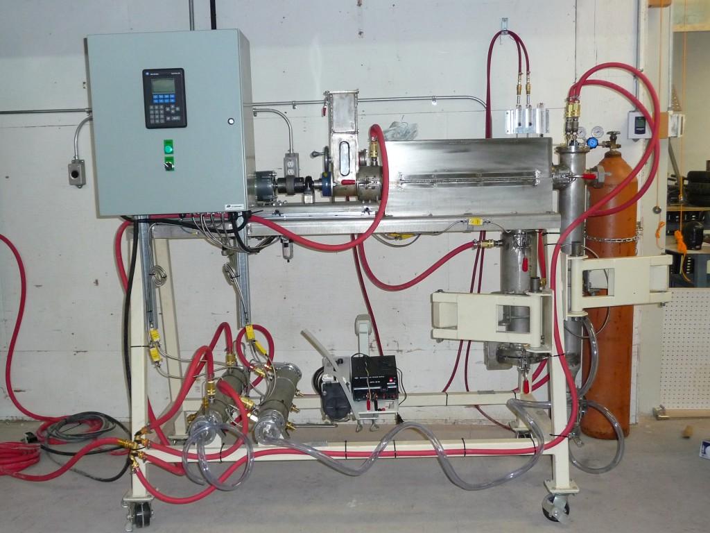 Prototype d'unité mobile de pyrolyse de la biomasse forestière